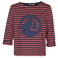 Clothing Women Tops / Blouses Petit Bateau  Red / Marine