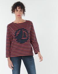 Clothing Women Tops / Blouses Petit Bateau  Red / Marine