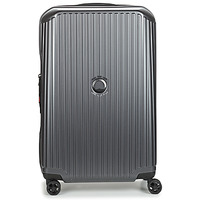 Bags Hard Suitcases Delsey SECURITIME ZIP 68 CM 4 DOUBLE WHEELS Grey