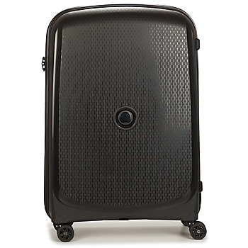 Bags Hard Suitcases Delsey 72 CM 4 DOUBLE WHEELS TROLLEY CASE Black