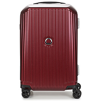 Bags Hard Suitcases Delsey SECURITIME FRAME 55 CM DOUBLE WHEELS CABIN Red