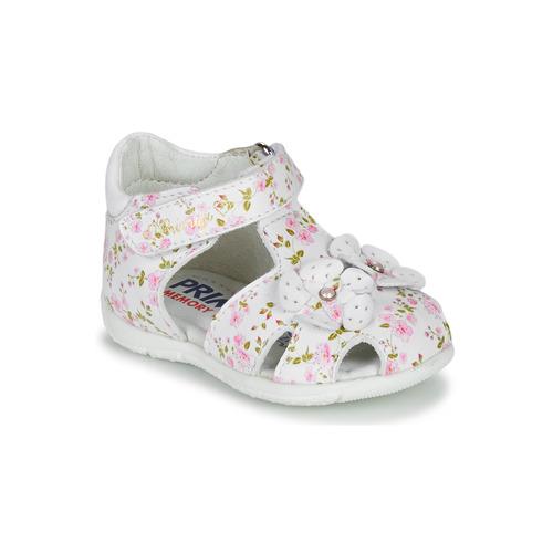 Shoes Girl Sandals Primigi 5401300 White / Pink