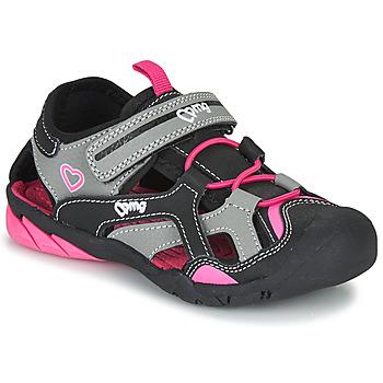 Shoes Girl Outdoor sandals Primigi  Black / Pink