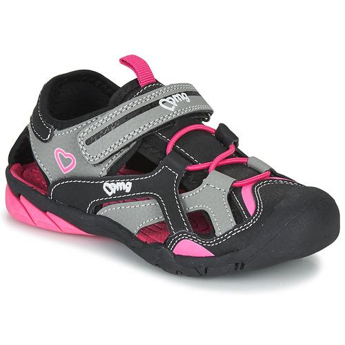 Shoes Girl Outdoor sandals Primigi 5460011 Black / Pink
