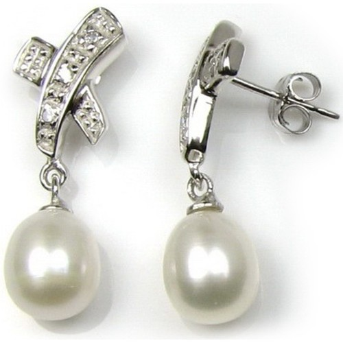 Watches & Jewellery  Women Earrings Blue Pearls BPS 0319 Y Multicolored