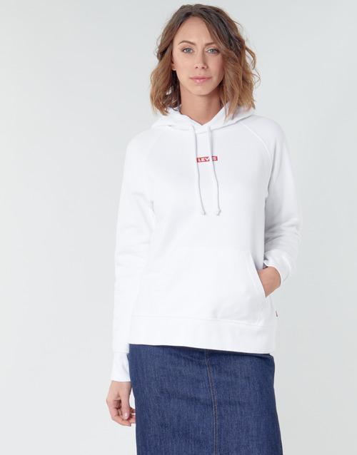 Clothing Women Sweaters Levi's RAPHIC SPORT HOODIE BABY TAB HOODIE White