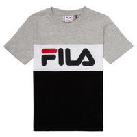 Clothing Children short-sleeved t-shirts Fila FINA Grey / Black