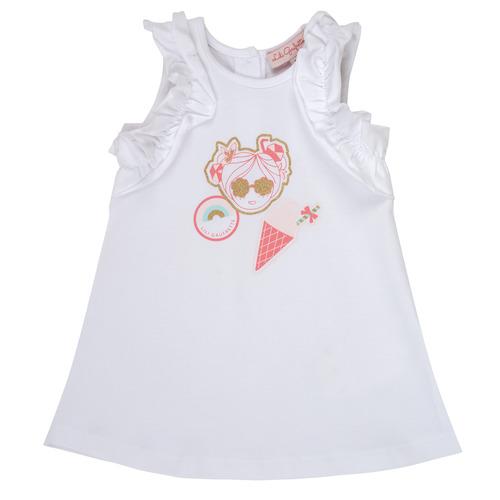 Clothing Girl Short Dresses Lili Gaufrette NAVETTE White