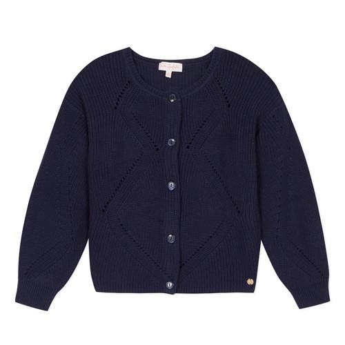 Clothing Girl Jackets / Cardigans Lili Gaufrette  Marine