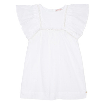 Clothing Girl Short Dresses Lili Gaufrette MELINA White
