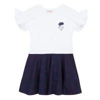 Clothing Girl Short Dresses Lili Gaufrette PERRINE White
