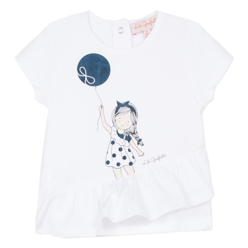 Clothing Girl short-sleeved t-shirts Lili Gaufrette MAE White