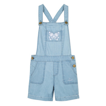 Clothing Girl Jumpsuits / Dungarees Lili Gaufrette FATIA Blue