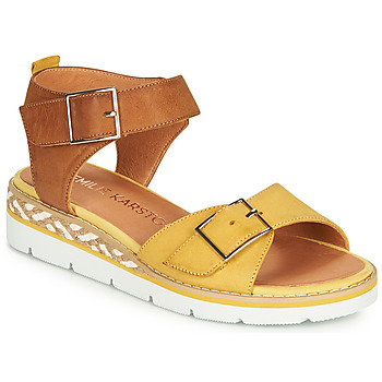 Shoes Women Sandals Karston KICHOU Yellow / Brown