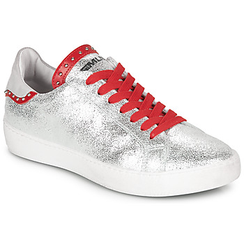 Shoes Women Low top trainers Meline GARILOU Silver / Red