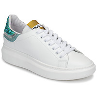 Shoes Women Low top trainers Meline GARISSON White / Green