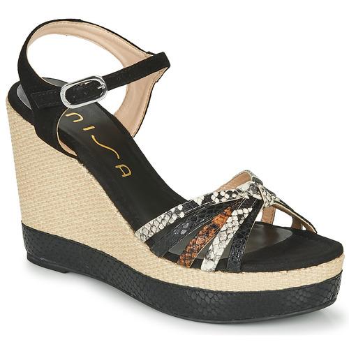 Shoes Women Sandals Unisa MIRELLA Black