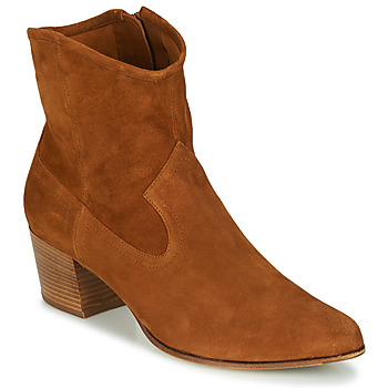 Shoes Women Ankle boots Unisa GALVEZ Camel