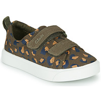 Shoes Girl Low top trainers Clarks CITY BRIGHT T Kaki