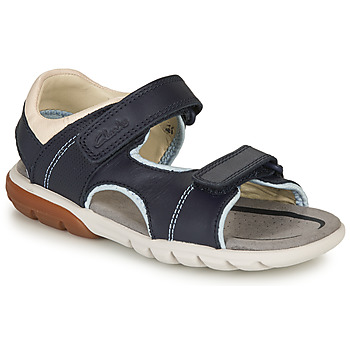Shoes Boy Sandals Clarks ROCCO WAVE K Blue
