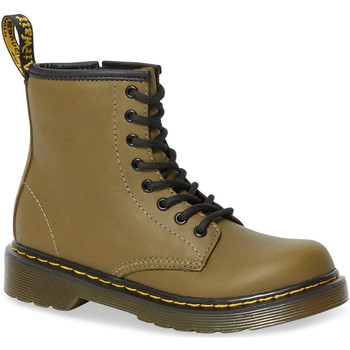 Shoes Women High boots Dr Martens 1460 J Dms Olive Romario Smoother Finish Green