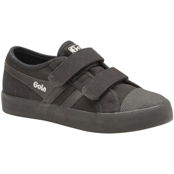 Shoes Girl Low top trainers Gola Coaster Velcro Girls Trainers black