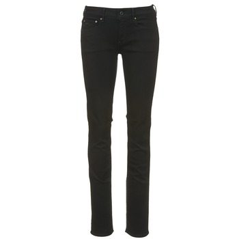 Clothing Women straight jeans G-Star Raw ATTACC MID STRAIGHT Black