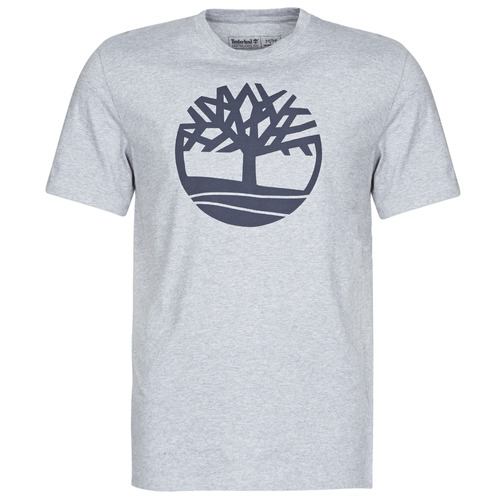 Clothing Men short-sleeved t-shirts Timberland SS Kennebec River Brand Tree Tee Grey