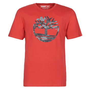 Clothing Men Short-sleeved t-shirts Timberland SS KENNEBEC RIVER CAMO TREE TEE Red