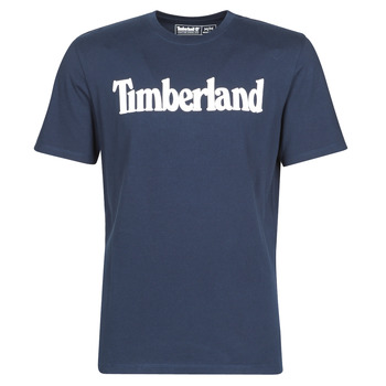 Clothing Men short-sleeved t-shirts Timberland SS Kennebec River Brand Linear Tee Marine