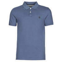 Clothing Men Short-sleeved polo shirts Timberland SS MILLERS RIVER COLLAR JACQUARD POLO (SLIM) Blue / Dark