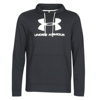 Clothing Men sweaters Under Armour SPORTSTYLE TERRY LOGO HOODIE Black