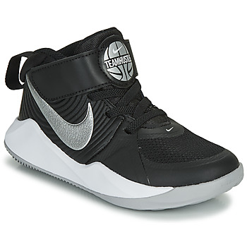Shoes Children Basketball shoes Nike TEAM HUSTLE D 9 PS Black / Silver
