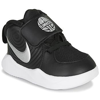 Shoes Boy Basketball shoes Nike TEAM HUSTLE D 9 TD Black / Silver