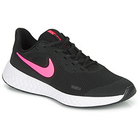 Shoes Girl Low top trainers Nike REVOLUTION 5 GS Black / Pink