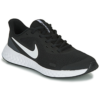 Shoes Children Low top trainers Nike REVOLUTION 5 GS Black / White
