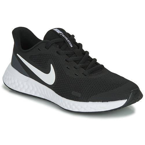 Shoes Children Multisport shoes Nike REVOLUTION 5 GS Black / White