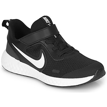 Shoes Children Low top trainers Nike REVOLUTION 5 PS Black / White