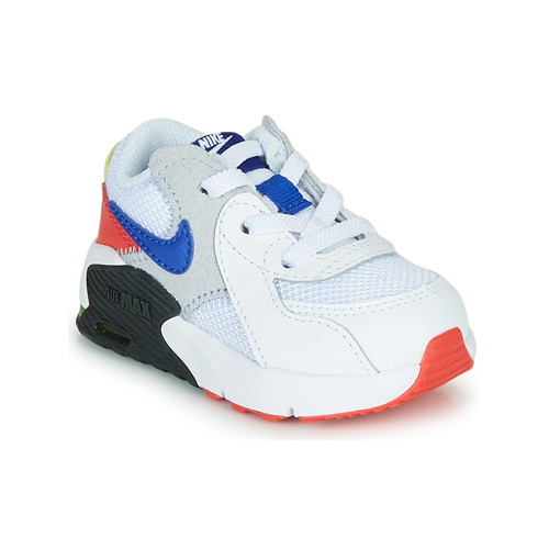 Shoes Children Low top trainers Nike AIR MAX EXCEE TD White / Black / Blue