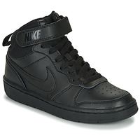 Shoes Children Low top trainers Nike COURT BOROUGH MID 2 GS Black
