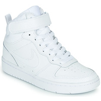 Shoes Children Hi top trainers Nike COURT BOROUGH MID 2 GS White