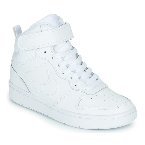 Shoes Children Low top trainers Nike COURT BOROUGH MID 2 GS White