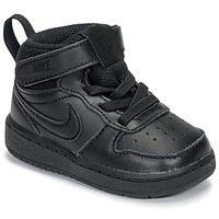 Shoes Children Hi top trainers Nike COURT BOROUGH MID 2 TD Black
