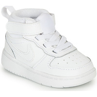 Shoes Children Hi top trainers Nike COURT BOROUGH MID 2 TD White