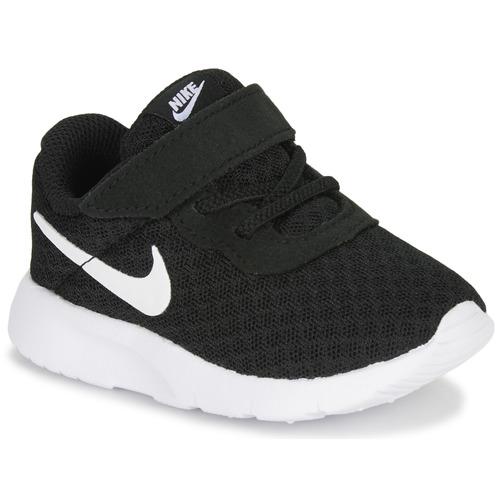 Shoes Children Low top trainers Nike TANJUN TD Black / White