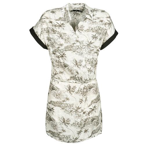 Clothing Women Short Dresses Volcom VACAY ME SS DRESS Star / White