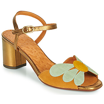 70s Shoes, Platforms, Boots, Heels | 1970s Shoes Chie Mihara  LUKE  womens Sandals in Gold £259.00 AT vintagedancer.com