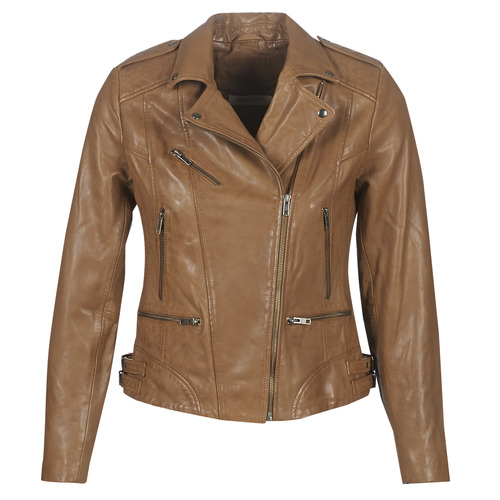 Clothing Women Leather jackets / Imitation leather Naf Naf CHAO Cognac