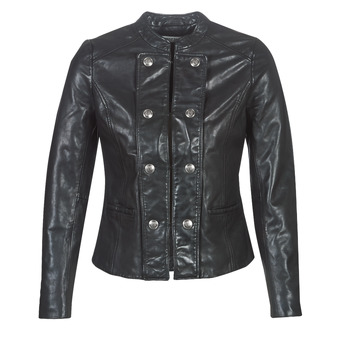 Clothing Women Leather jackets / Imitation leather Naf Naf CMILI Black