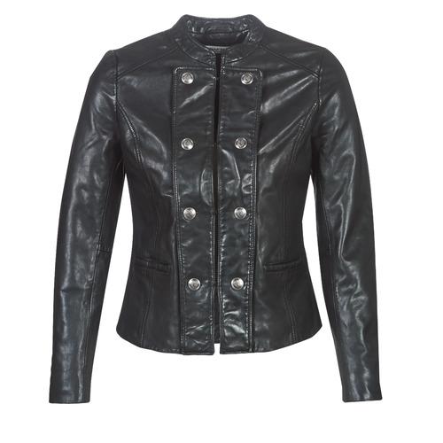 Clothing Women Leather jackets / Imitation leather Naf Naf CMILI Black